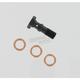 Custom Builders Micro Line 3/8 in. - 24 Black Banjo Bolt - 17420160