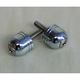 Chrome Stubby Scooter Bar Ends - 08001024