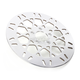 Front 11.8 in. Mesh Polished Stainless Steel Brake Rotor - 1710-2029