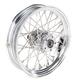 Chrome Rear 16 x 3.5 40-Spoke Laced Wheel Assembly - 0204-0358