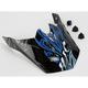 Black/Blue/White Visor for HJC CL-XY Youth Vampiro Helmet - 270-929