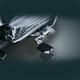 Chrome Ergo III Adjustable Cruise Mounts w/Chrome/Black Trident Dually Pegs - 4081