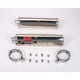 RS-3 Dual Oval Race Bolt-On Muffler with Polished Stainless Steel Muffler Sleeves - R149SO
