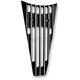 Gloss Black Finned Frame Filler Grill - C0026-B