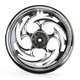 Rear Chrome 16 x 3.5 Savage One-Piece Wheel - 16350-9978-85C