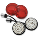 Retro Red LED Turn Signal Faces - LEDK53-156R2