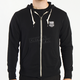 Checkered Black Zip-Up Hoody