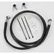 Front Extended Length Black Vinyl Braided Stainless Steel Brake Line Kit +4 in. - 1741-2540