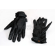 Womens Jet Black Perforated Leather Gloves