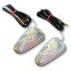 Mini Triangle Flush Mount Marker Lights w/Rainbow Lens - 25-8342