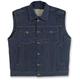 Indigo Blue Collared Prime Cut Vest