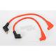 Hot Orange 8mm Pro Spark Plug Wires w/90 Degree Boot - 77835