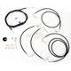 Black Vinyl Handlebar Cable and Brake Line Kit for Use w/18 in. - 20 in. Ape Hangers w/ABS - LA-8050KT-19B