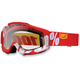 Fire Red/White Accuri Motocross Goggles w/Clear Lens - 50200-003-02