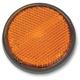 Adhesive Back Amber Reflector - RR2A