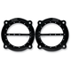 Gloss Black Dimpled Front Speaker Grilles - C0024-B