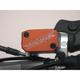 Orange Anodized Billet Aluminum Front Brake Reservoir Cover - 21-040