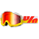 White/Yellow/Red Accuri In & Out Goggle w/Mirror Red Lens - 05210-095-02