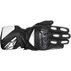 Black/White SP-2 Leather Gloves