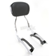 Tall 17 in. Round Sissy Bar w/Pad - 02-7634