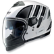 White/Black N43ET Trilogy N-Com Helmet