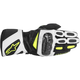 Black/White/Fluorescent Yellow SP-2 Leather Gloves