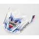 White/Blue/Red VFX-W K-Dub Visor - 0245-6069-06