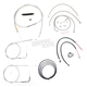 Stainless Braided Handlebar Cable and Brake Line Kit for Use w/12 in. - 14 in. Ape Hangers w/ABS - LA-8150KT2-13