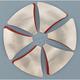 Raw Custom Spoke Inserts for System 6 Wheels - S6INSRAW