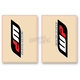 Red/Black WB Upper Fork Decals - 01018