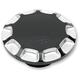 Gloss Black Vented Straight-Cut Gas Cap - 0703-0389