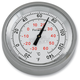 Silver Anodized Snap Back Classic Series Thermometer w/White Face - SB-81100