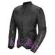 Womens Black/Purple Heartbreaker 3.0 Textile Jacket