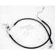 Rear Standard Length Black Vinyl Braided Stainless Steel Brake Line Kit - 1741-2954