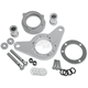 Chrome Carb Support Bracket and Breather Kit - DM-54