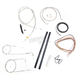 Stainless Braided Handlebar Cable and Brake Line Kit for Use w/15 in. - 17 in. Ape Hangers (w/o ABS) - LA-8210KT2A-16