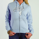 Womens Curly Q Blue Zip-Up Hoody