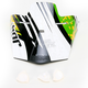 Youth Green/White Quadrant Splatter Visor Kit - 0132-0703
