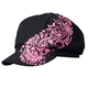 Womens Black/Pink Ride Fast Live Free Paisley Pie Cap