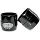 Gloss Black Powdercoat End Cap For True Power 3.5 in. Slip-On Mufflers - LA-1092-32B