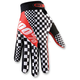 Black/White/Red Ridefit Legend Gloves