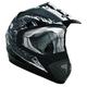Black/Silver TX-517 Ride Hard Helmet
