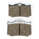 Limited Edition Chromed Semi-Sintered VLD Brake Pads - F216/3VLD