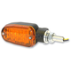 Black LED Turnsignals w/Amber Lens and Two-Wires - 26-7700BK