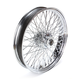 21 in. x 3.5 in. Chrome 80-Spoke Front Wheel Assembly w/Round Spokes - 06-109