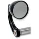 Black 2 1/4 in. Cone Bar End Mirror w/Curved Stem - 09-315-CB