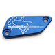 Blue Front Brake Master Cylinder Cover - 35-0561-00-20