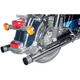 Chrome 3-Ring One-Piece Dresser Slip-On Mufflers - MHD-303