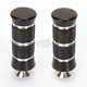 Black Anodized Night Series Knurled Grooved Shifter/Brake Pegs - PT220-KGN