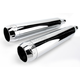 Chrome 3 1/2 in. Tru Power Slip-On Mufflers - LA-1062-02